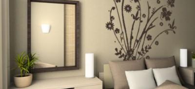 naklejka na ścianę polne kwiaty