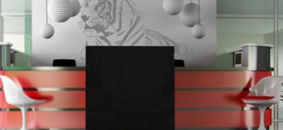 Szablony do malowania ścian tygrys