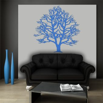naklejka niebieskie drzewo