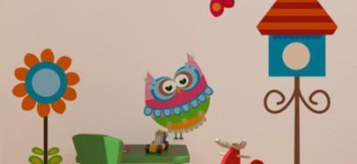 naklejka sowy - naklejki na szafy dla dzieci
