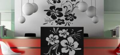 szablon małe kwiatki - Szablony do malowania