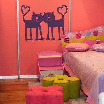ozdoby na ściany samoprzylepne koty