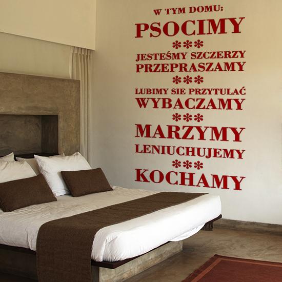 Napisy na ścianę w sypialni nadadzą indywidualny charakter Twojej sypialni