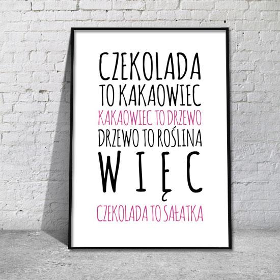 Plakat Czekolada I Sałatka