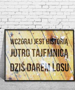 Plakat W Ramie Z Napisami Ornamentyka