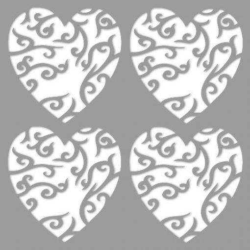 szablon do malowania ścian z sercem