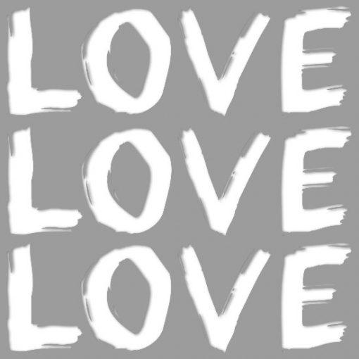 szablon do malowania ścian z napisem love