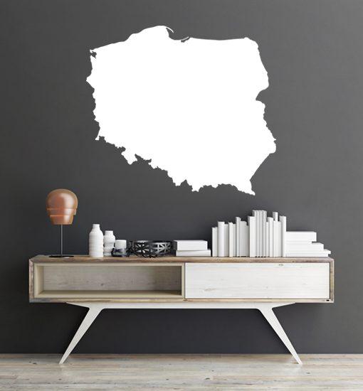 szablon do malowania ścian mapa polski