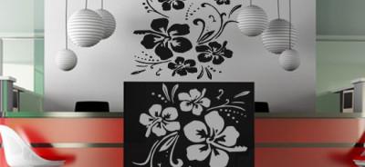 szablon ścienny kwiaty - Szablony kwiaty