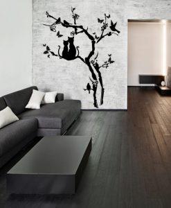 ozdoba salonu samoprzylepna z drzewem