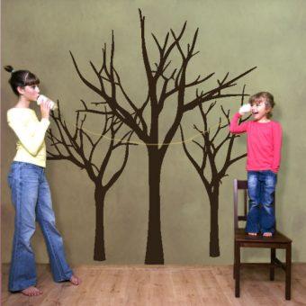 naklejka na ścianę trzy drzewka