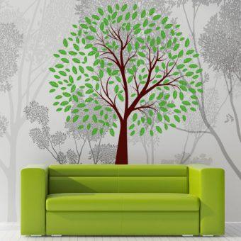 naklejka na ścianę zielone drzewko