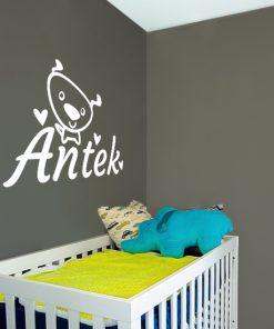 imię dziecka na ścianę
