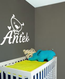 imię dziecka na łóżeczko