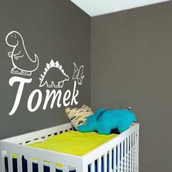 imię dziecka na ścianę za łóżeczko