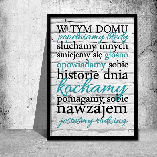 Plakat Z Mottem O Rodzinie