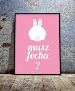 plakat różowy