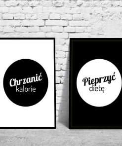 plakaty o kaloriach