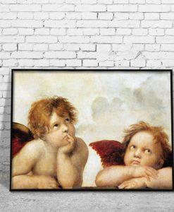 obrazy z aniołkami