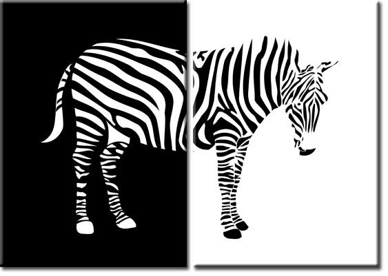 Podwójny Plakat Z Zebrą