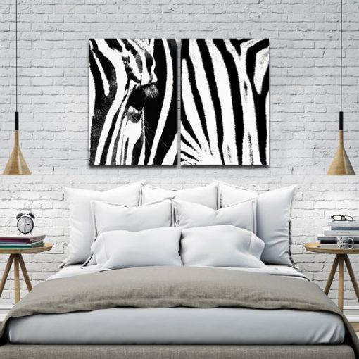 plakat z zebrą na ścianę