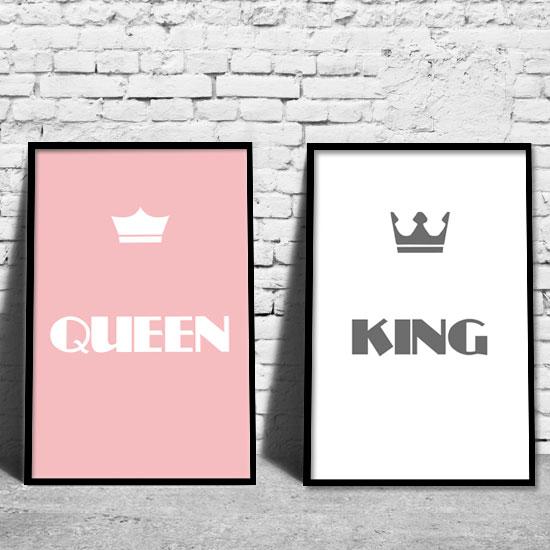 Podwójny Plakat Król I Królowa