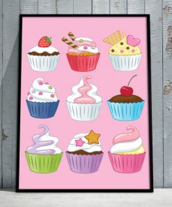 plakaty z muffinkami