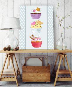 plakaty z muffinami