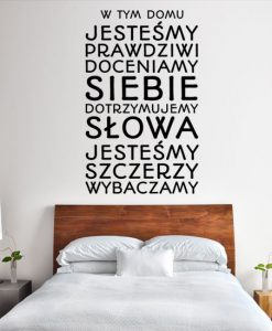 Naklejki na ścianę cytaty