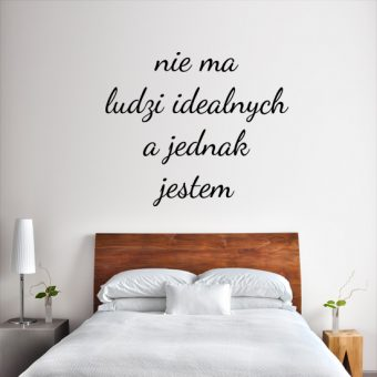 naklejka z motto
