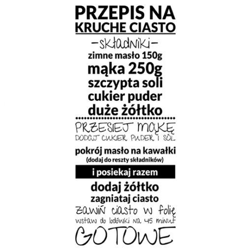 nalepki z typografią