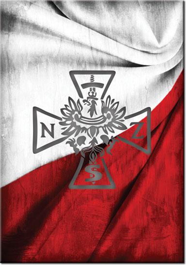 Plakat Z Krzyżem Nsz