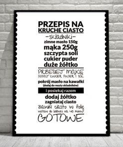 plakaty z przepisami