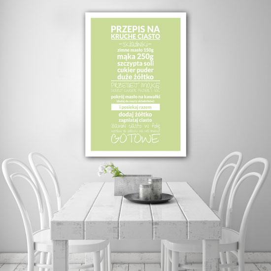 Plakat Do Kuchni Z Przepisem