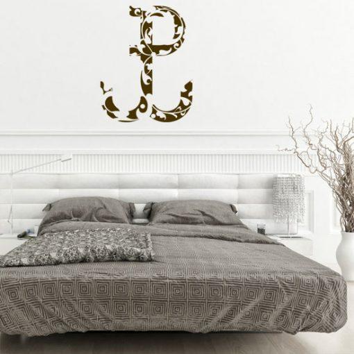 napisy na ścianę w sypialni