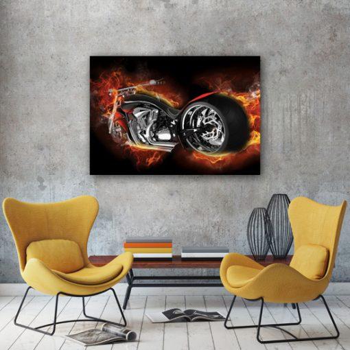 plakaty z motorcyklami
