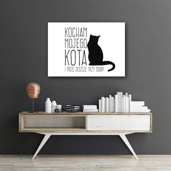 Plakat O Miłości Do Kota