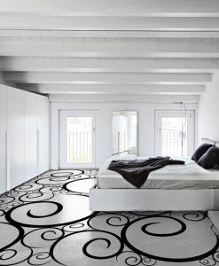 podłogi żywiczne szablony do malowania wzorów