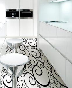 podłogi żywiczne wzory malowane