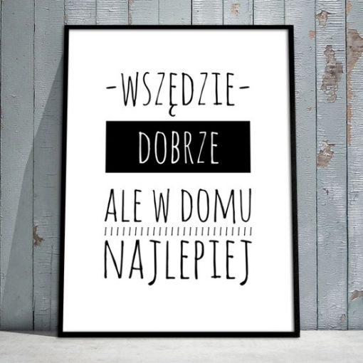 plakata z typografią