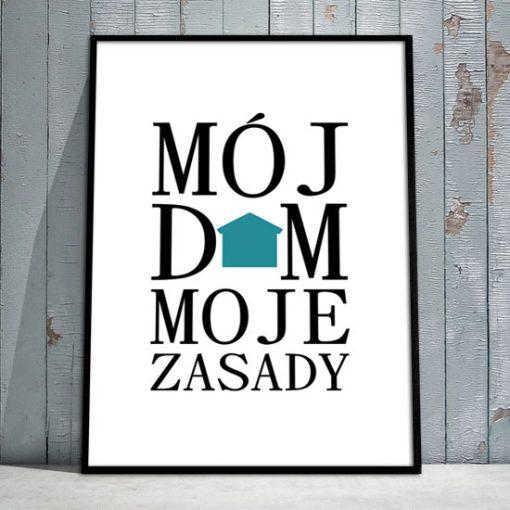 plakaty mój dom moje zasady