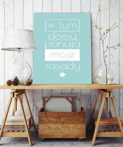 plakaty z zasady w domu