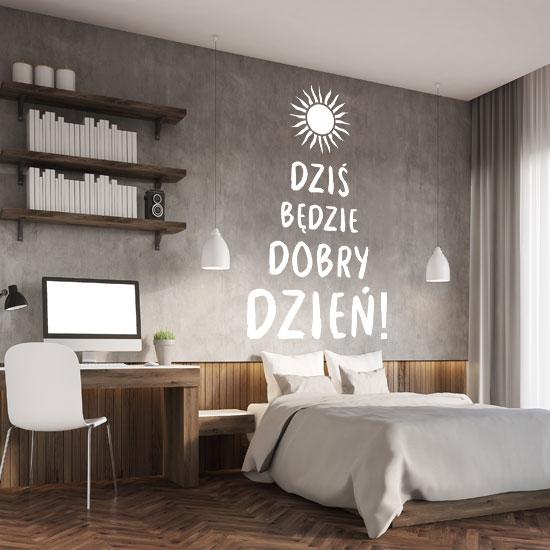 napisy na ścianę w pokoju