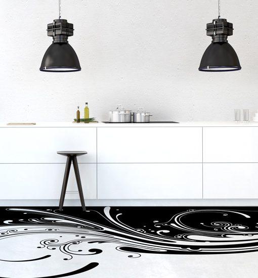 szablon malarski wzory na podłogę