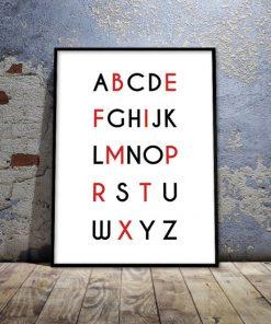 ozdoba ścian z literami