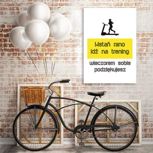 plakat z mottem motywacyjnym