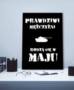 plakat z czołgiem