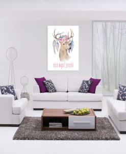 ozdoba ścian z jeleniem