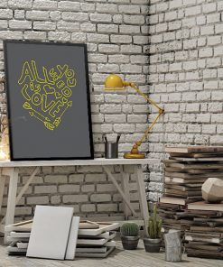 ozdoba ścian z napisami