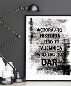 dekoracje z typografią